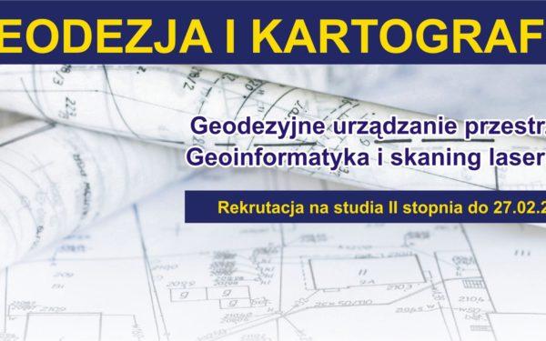geodezja i kartografia rekrutacja na studia drugiego stopnia